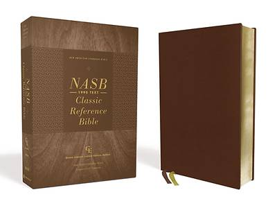 Picture of Nasb, Classic Reference Bible, Genuine Leather, Buffalo, Brown, Red Letter, 1995 Text, Comfort Print