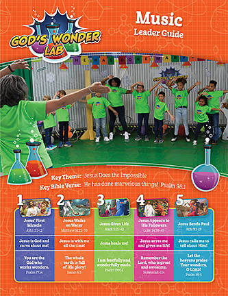 Picture of Vacation Bible School VBS 2021 God's Wonder Lab Music Leader Guide