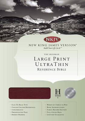 Picture of Ultrathin Large Print Reference Bible-NKJV