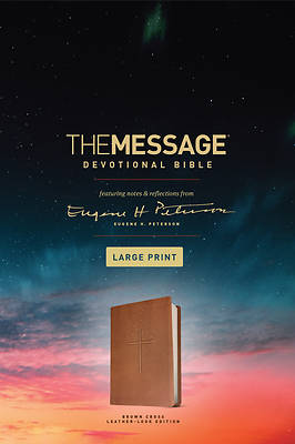 Picture of The Message Devotional Bible, Large Print (Leather-Look, Brown)