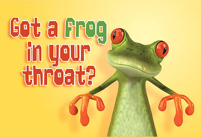 Frog In Your Throat Get Well Postcard (Package of 25)