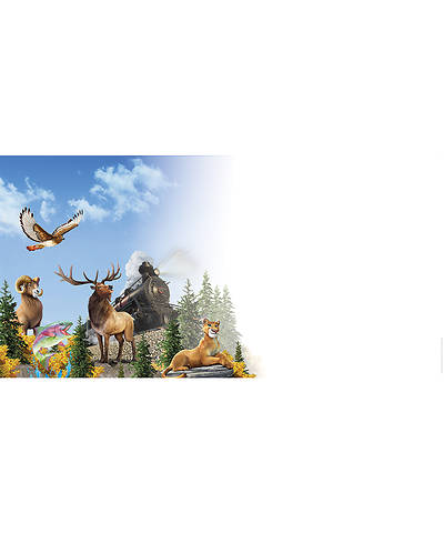 Picture of Vacation Bible School (VBS) 2020 Rocky Railway Outdoor Banner - Train and Buddies