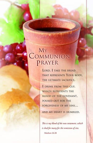 My Communion Prayer - Communion Bulletin, Regular (Package of 100)