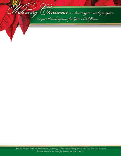 With Every Christmas Poinsettia Letterhead