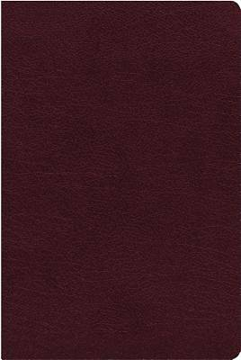 NIV, Reference Bible, Giant Print, Bonded Leather, Burgundy, Red Letter Edition, Indexed, Comfort Print