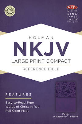 Picture of NKJV Large Print Compact Reference Bible, Purple Leathertouch, Indexed