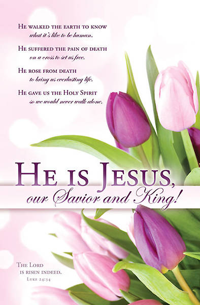 Easter He Is Jesus Bulletin Regular (Package of 100)