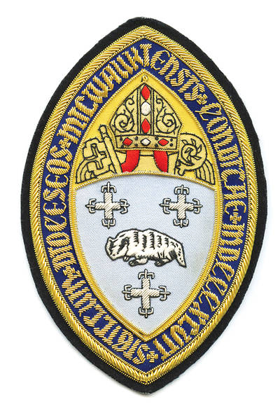 Hand Embroidered Diocesan Seal - Diocese of Milwaukee