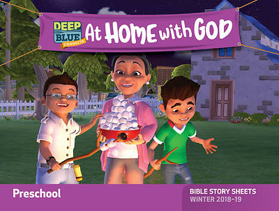 Picture of Deep Blue Connects At Home With God Preschool Bible Story Sheets Winter 2018-19