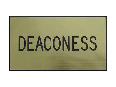 Picture of Gold and Black Deaconess Magnetic Badge