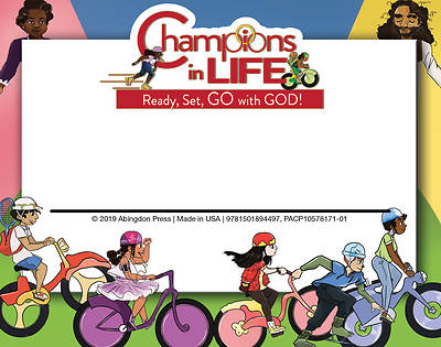 Picture of Vacation Bible School (VBS) 2020 Champions in Life Nametags (Pkg of 24)