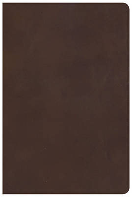 Picture of KJV Large Print Personal Size Reference Bible, Brown Genuine Leather, Indexed