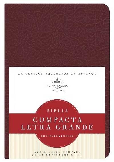 Picture of Rvr 1960 Biblia Compacta Letra Grande Con Referencias, Rojizo Imitacion Piel