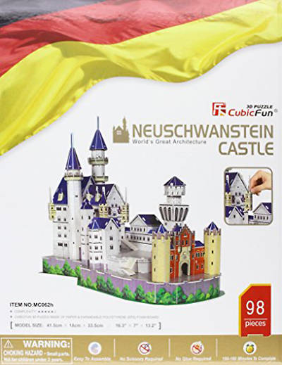 Picture of Neuschwanstein Castle 3D Puzzle with Book