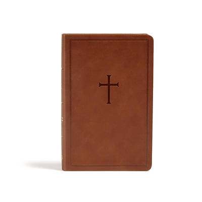 Picture of CSB Personal Size Bible, Brown Leathertouch