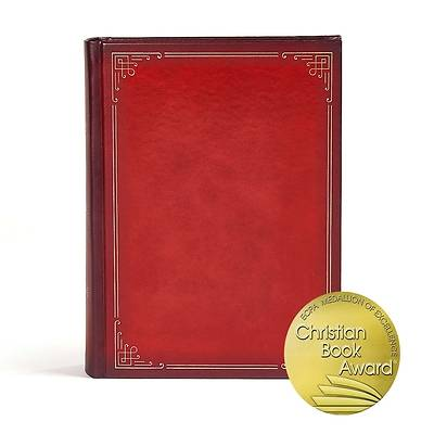 Picture of CSB Ancient Faith Study Bible, Crimson Leathertouch Indexed