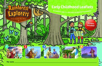 Picture of Vacation Bible School (VBS 2020) Rainforest Explorers Early Childhood Leaflets and Stickers