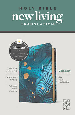 Picture of NLT Compact Bible, Filament Enabled Edition (Red Letter, Leatherlike, Teal Palm)