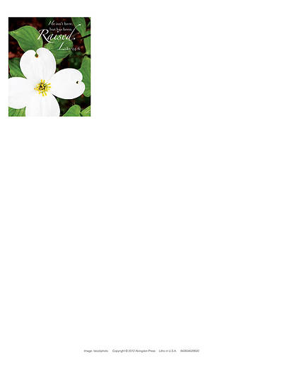 Raised Easter Dogwood Letterhead 2013 (Package of 50)