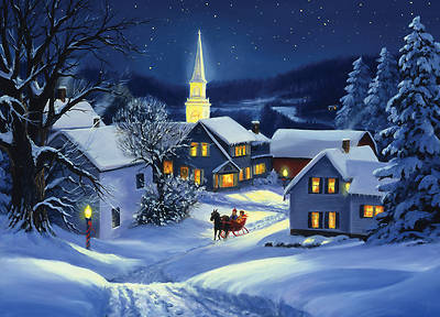 Picture of Church and Village Boxed Christmas Cards