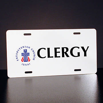 Full-Color Presbyterian Clergy License Plate