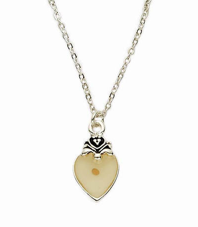 Picture of Pendant Heart Mustard Seed Gold Tone 18 Inch