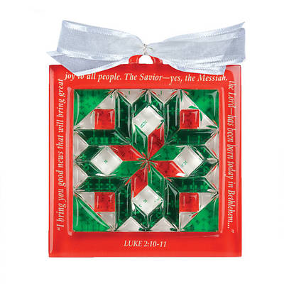 Bethlehem Star Christmas Quilt Block Ornament