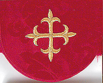 Picture of Red Pocket Usher Badge with Cross - Package of 4
