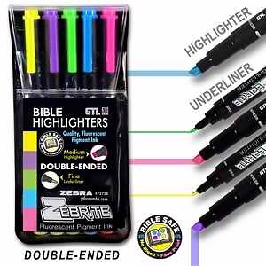 Bible Highliter Zebrite 5 Pack