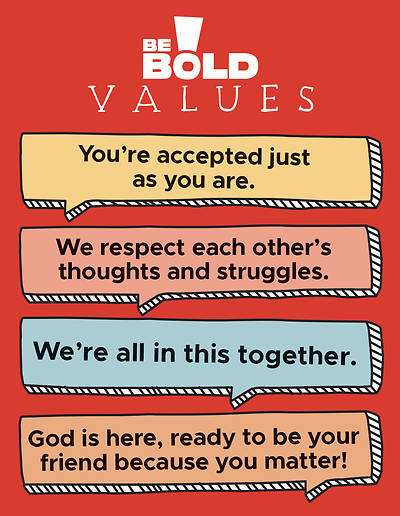 Picture of Be Bold Values Poster