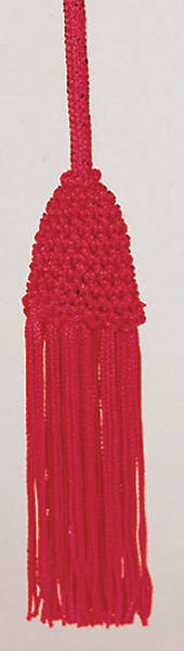 Red Cincture with Tassel, 4 Yards