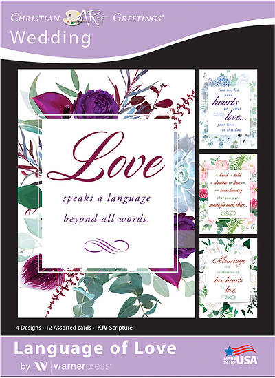 Language of Love Wedding Boxed Cards