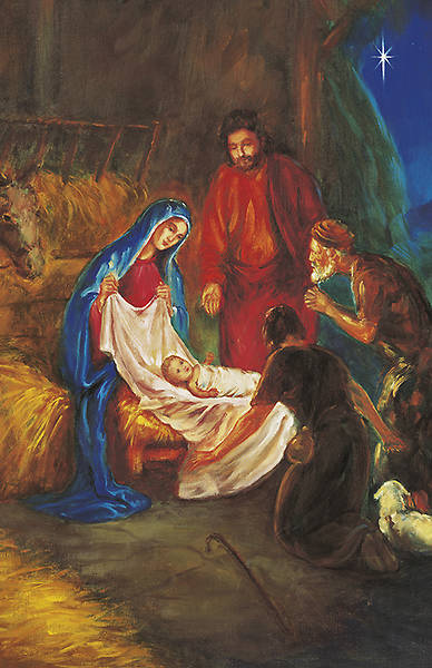 Christmas Traditional Nativity Bulletin Regular (Package of 100)