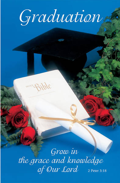 Graduation Bulletin 2 Peter 3:18 Regular (Package of 100)