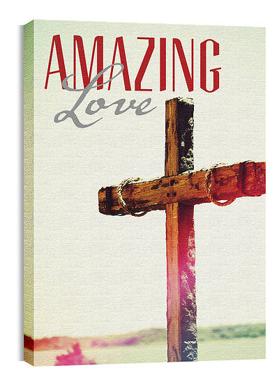 Amazing Love with Cross Canvas Print