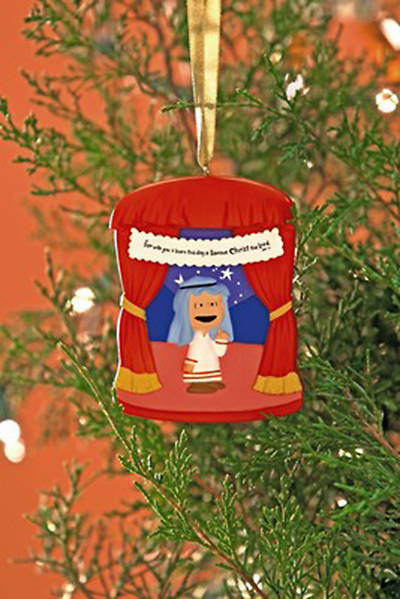 Peanuts For Unto You Is Born Christmas Ornament - Linus