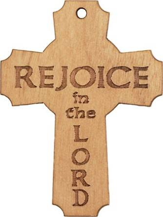 Rejoice in the Lord Pocket Cross