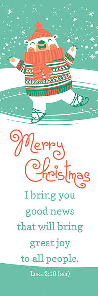Bookmark Kids Merry Christmas Luke 2:10