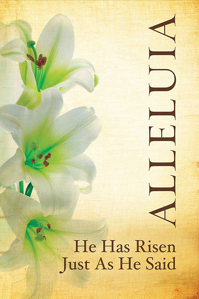 Alleluia Lily Easter Linen Series Banner 4x6