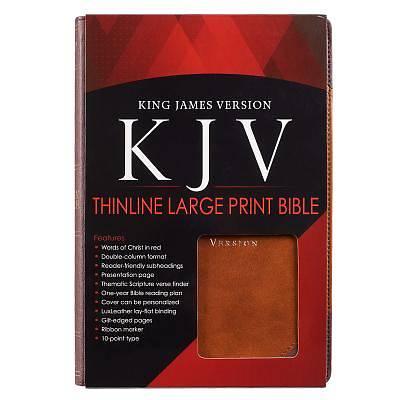 Picture of KJV Large Print Lux-Leather Brown Portfolio Design