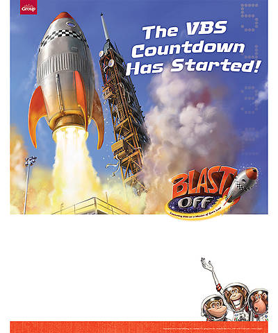 Group VBS 2014 Weekend Blast Off Blast Off Publicity Posters (pkg of 5)