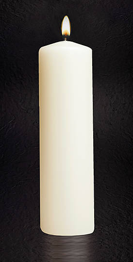 "Picture of Christ Plain 11"" X 3"" Candle"