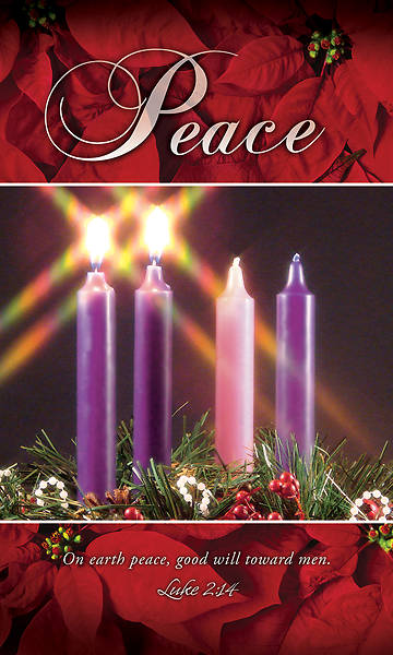 Picture of Peace Advent Wreath 3' X 5' Fabric Banner