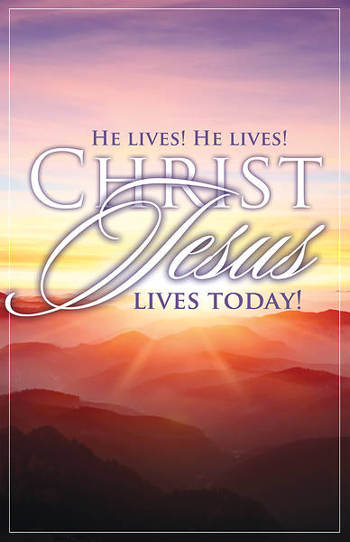 Picture of He Lives! He Lives! Christ Jesus Lives Today!  Easter Bulletin