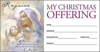 Christmas Nativity/Rejoice Offering Envelope 2011 (Package of 50)