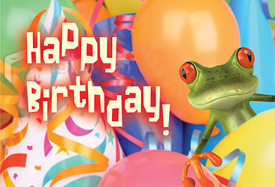 Happy Birthday Frog Postcard (Pkg of 25)