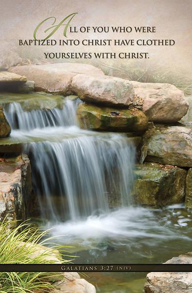 Picture of Baptized Into Christ Baptism Regular Size Bulletin