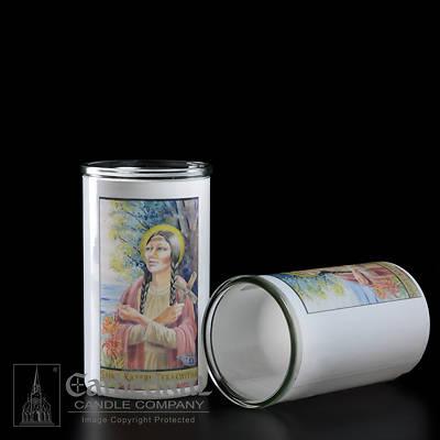 Picture of Saint Kateri Tekakwitha 3-Day Glass Globe