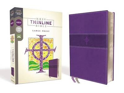 Picture of NRSV Thinline Bible, Large Print, Leathersoft, Purple, Comfort Print