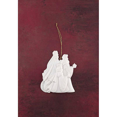 Ornament Wise Men White Resin
